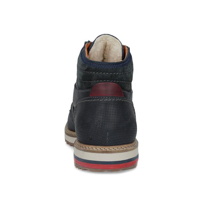 Kožená členková pánska zimná obuv bata, modrá, 896-9716 - 15