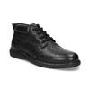 Pánska kožená členková obuv comfit, čierna, 894-6701 - 13