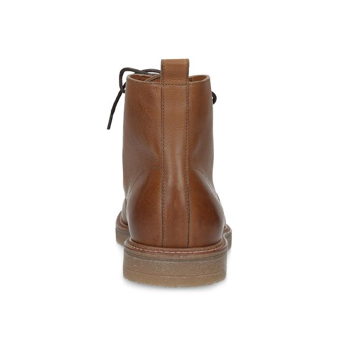 Hnedá kožená členková pánska obuv bata, hnedá, 896-3721 - 15
