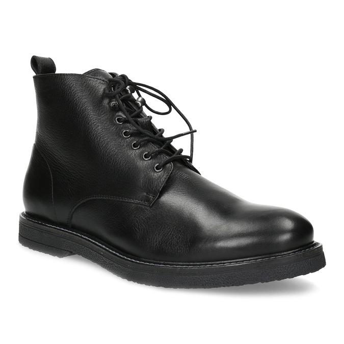 Čierna kožená členková pánska obuv bata, čierna, 894-6721 - 13