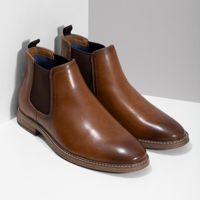 Pánska hnedá Chelsea obuv bata-red-label, hnedá, 821-3611 - 26