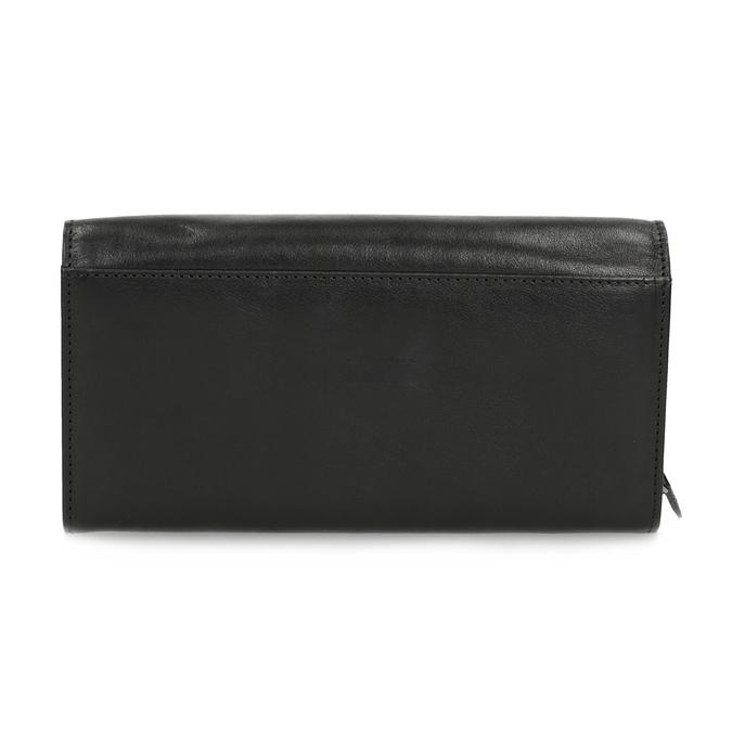 Čierna dámska kožená peňaženka bata, čierna, 944-6216 - 16