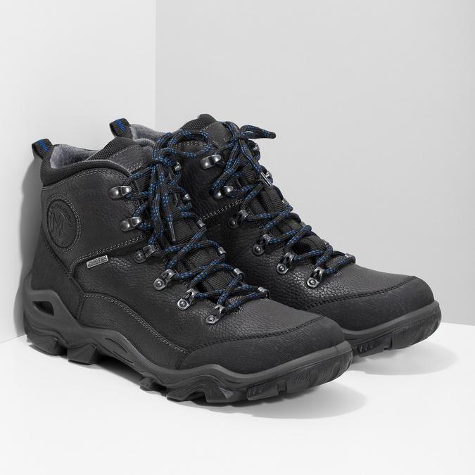 Pánska kožená outdoor obuv weinbrenner, čierna, 896-6706 - 26