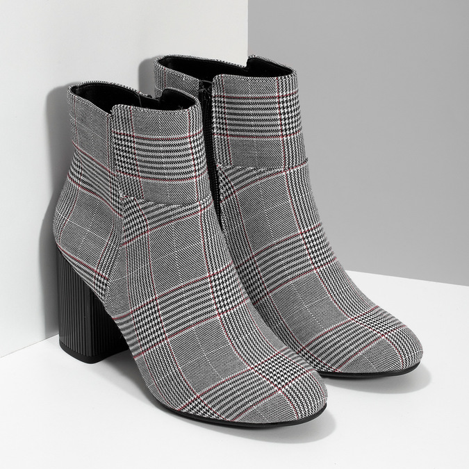 Členková dámska obuv so vzorom bata-red-label, viacfarebné, 799-1628 - 26