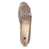 Béžové kožené lodičky so strapcami hogl, béžová, 626-8080 - 17