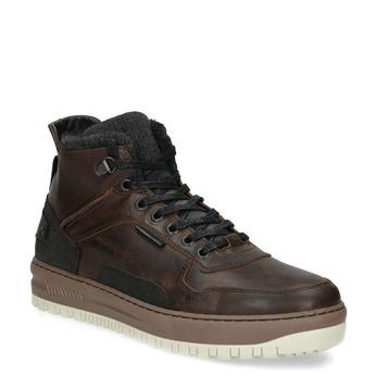 Členková kožená pánska zimná obuv bata, hnedá, 896-3712 - 13
