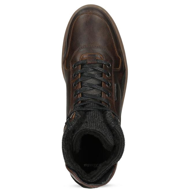 Členková kožená pánska zimná obuv bata, hnedá, 896-3712 - 17