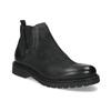 Kožená pánska zimná obuv v Chelsea štýle bata, čierna, 896-6714 - 13