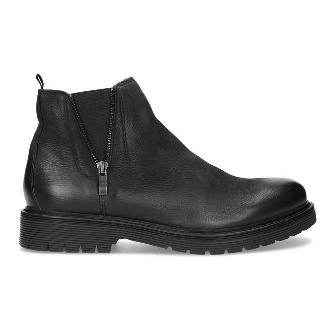 Kožená pánska zimná obuv v Chelsea štýle bata, čierna, 896-6714 - 19