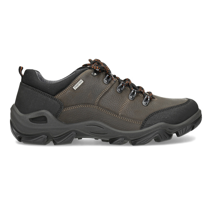 Pánska kožená obuv s masívnou podrážkou weinbrenner, hnedá, 846-4806 - 19