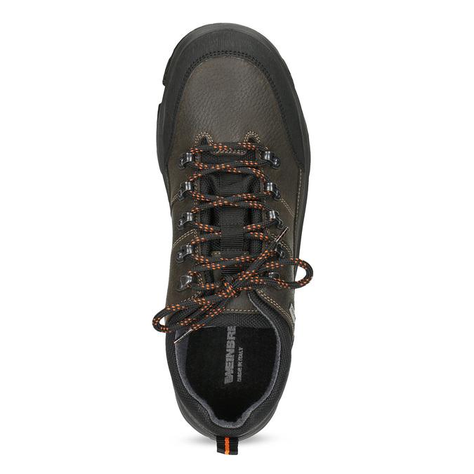 Pánska kožená obuv s masívnou podrážkou weinbrenner, hnedá, 846-4806 - 17
