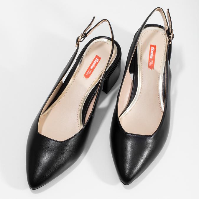 993873a204202 Čierne lodičky na nízkom podpätku bata-red-label, čierna, 621-6646