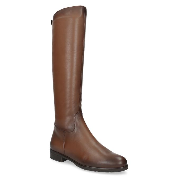 Kožené hnedé dámske čižmy bata, hnedá, 594-4675 - 13