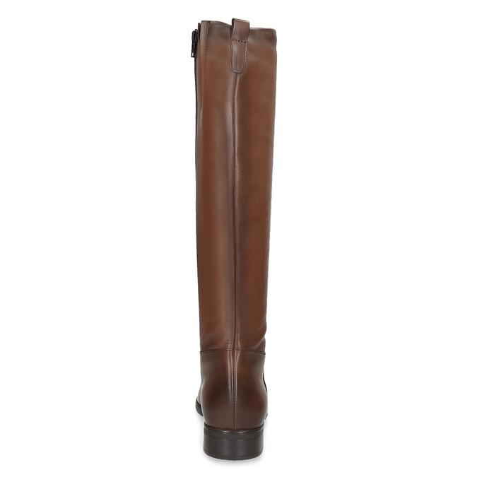 Kožené hnedé dámske čižmy bata, hnedá, 594-4675 - 15