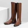 Kožené hnedé dámske čižmy bata, hnedá, 594-4675 - 16