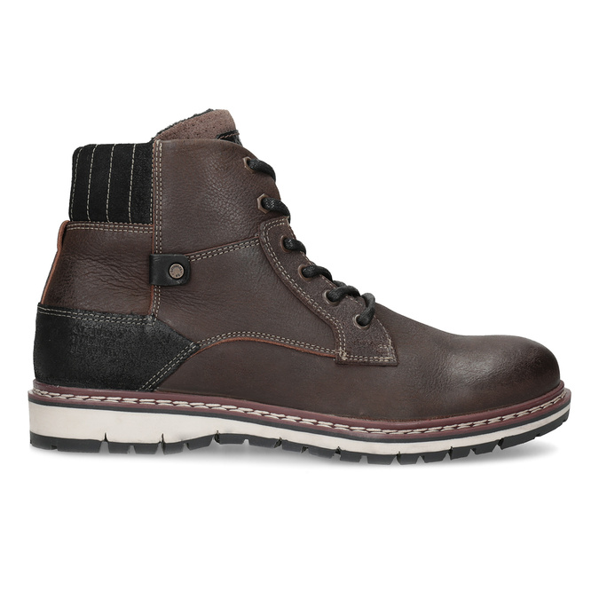 Členková kožená pánska obuv bata, hnedá, 896-4666 - 19