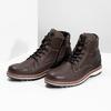 Členková kožená pánska obuv bata, hnedá, 896-4666 - 16