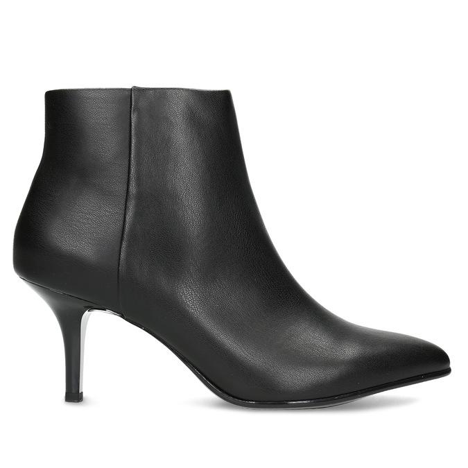 Dámska členková obuv na podpätku bata-b-flex, čierna, 791-6621 - 19
