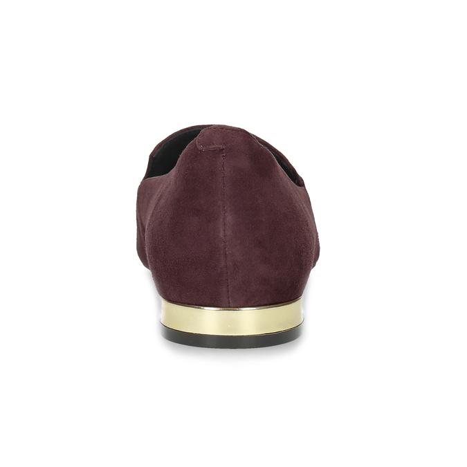 Vínové kožené baleríny do špičky rockport, červená, 513-5033 - 15