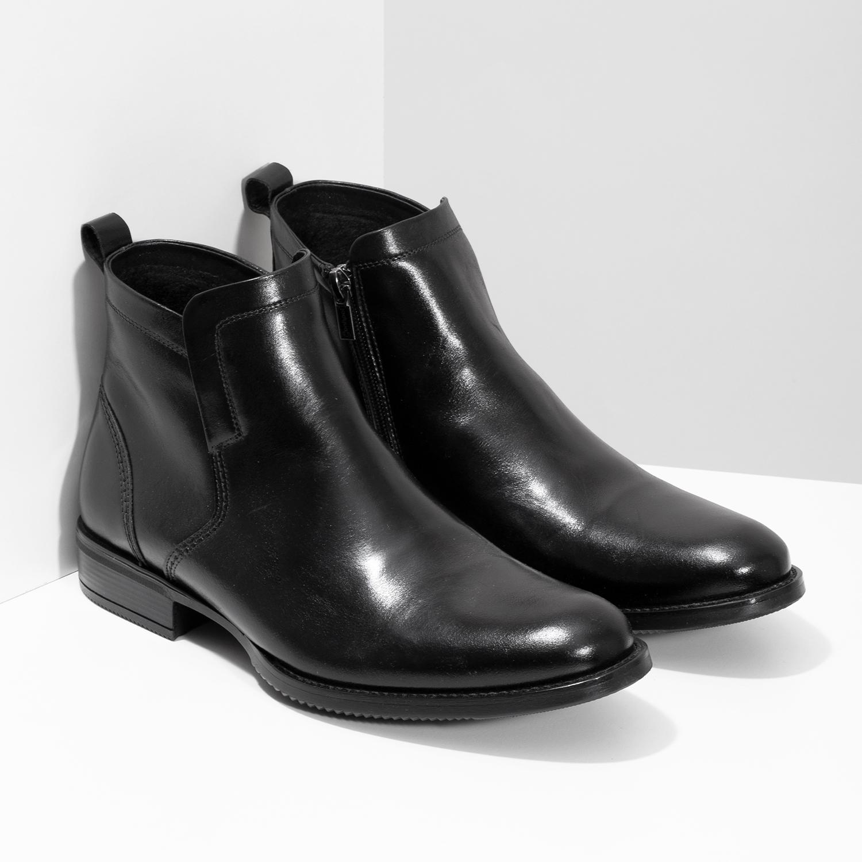 Conhpol Kožená zimná pánska členková obuv - Elegantné  0bd0b584da6
