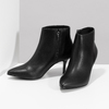 Dámska členková obuv na podpätku bata-b-flex, čierna, 791-6621 - 16