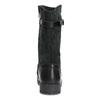 Kožené detské čižmy s prackou mini-b, čierna, 394-6200 - 15
