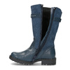 Dievčenské kožené modré zimné čižmy mini-b, modrá, 394-9200 - 17