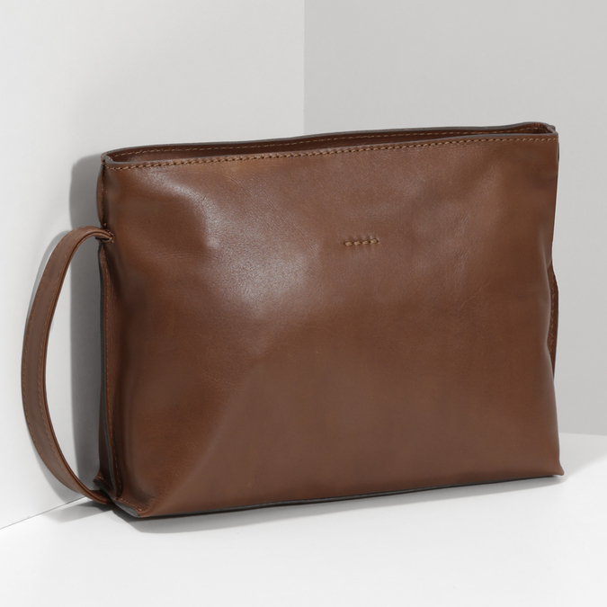 Kožená hnedá crossbody kabelka bata, hnedá, 964-3605 - 17