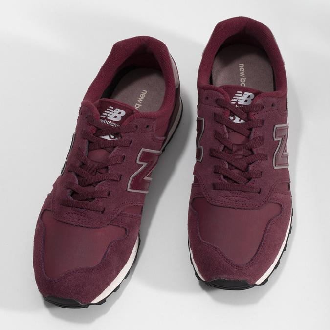 Vínové pánske tenisky z brúsenej kože new-balance, červená, 803-5141 - 16