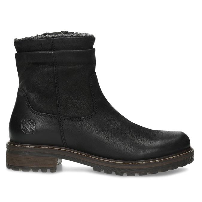 Kožené dámske zimné čižmy so zateplením bata, čierna, 596-6703 - 19