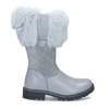 Detské kožené zimné čižmy s kožúškom mini-b, šedá, 394-2202 - 19