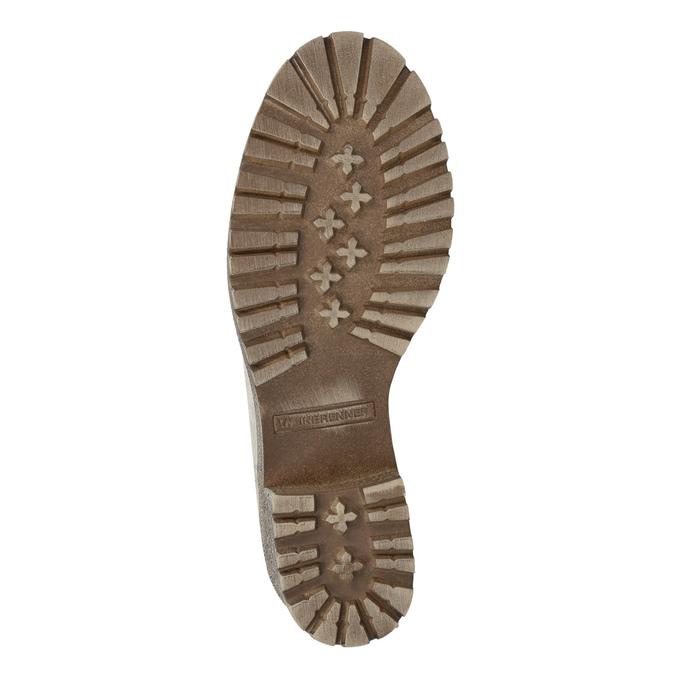 Kožená zimná obuv s kožúškom weinbrenner, béžová, 696-3336 - 18