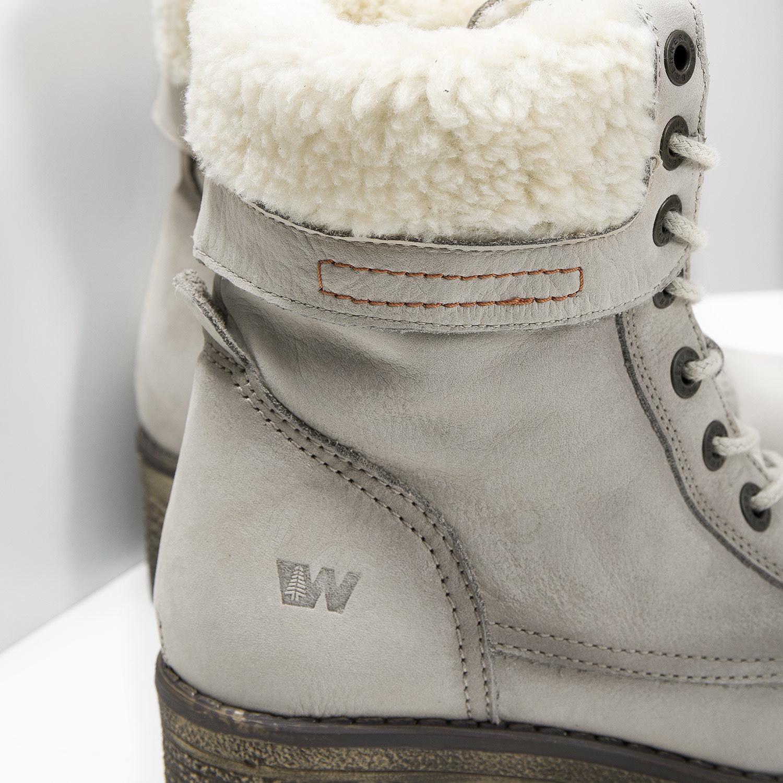 eb9b65bcc2 Weinbrenner Kožená zimná obuv s kožúškom - Na podpätku