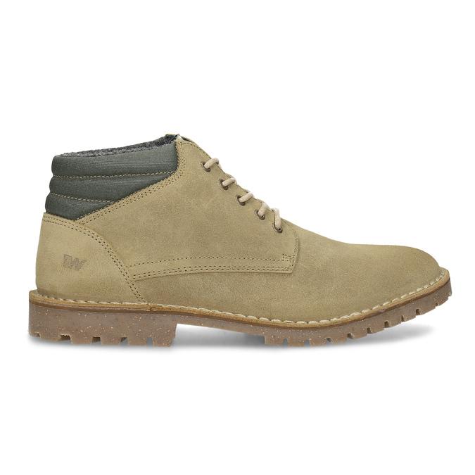 Kožená béžová pánska členková obuv weinbrenner, béžová, 896-8630 - 19