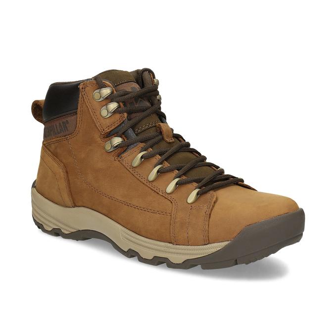 Hnedá pánska kožená členková obuv caterpillar, hnedá, 806-3107 - 13