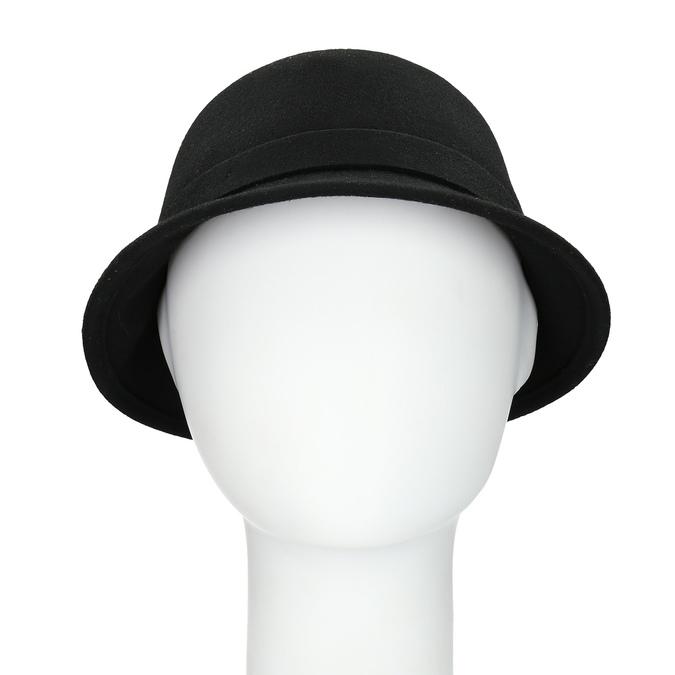 Čierny dámský klobúk s perličkami bata, čierna, 909-6283 - 16