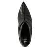 Čierne kožené čižmy s riasením bata, čierna, 794-6662 - 17
