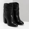 Čierne kožené čižmy s riasením bata, čierna, 794-6663 - 26