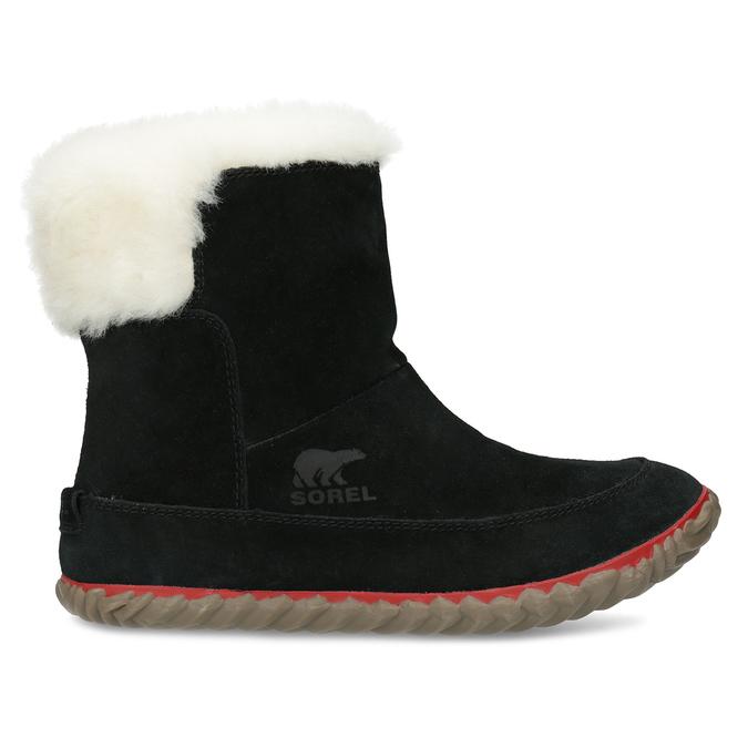 Kožená dámska zimní obuv so zateplením sorel, čierna, 693-6079 - 19