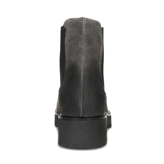 Šedá dámska kožená Chelsea obuv bata, šedá, 593-2617 - 15