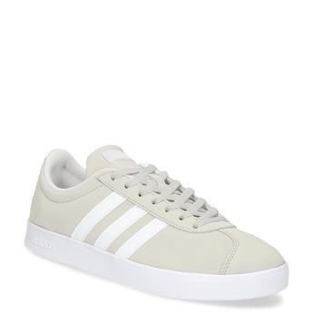 Béžové dámske kožené tenisky adidas, béžová, 503-8379 - 13