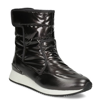 Dámske čierne metalické snehule bata, čierna, 599-6626 - 13
