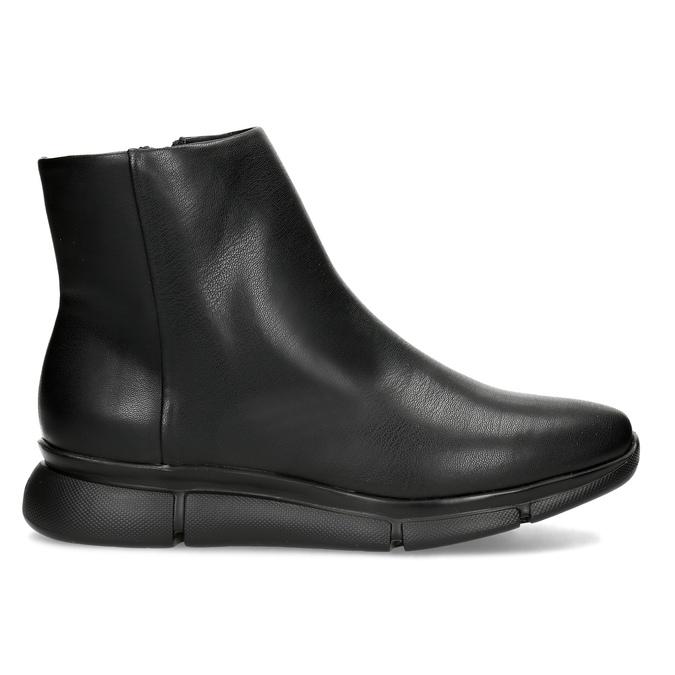 Dámska čierna členková obuv hladká bata-b-flex, čierna, 591-6636 - 19