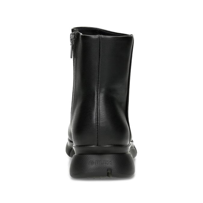 Dámska čierna členková obuv hladká bata-b-flex, čierna, 591-6636 - 15