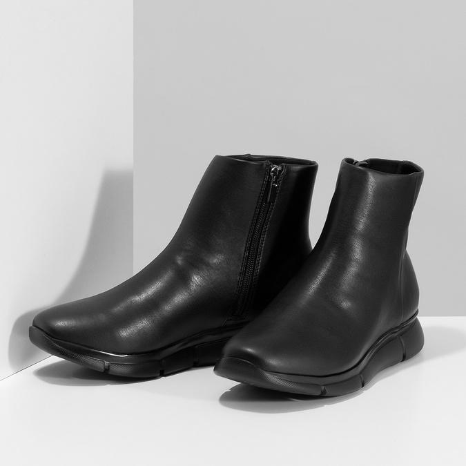 Dámska čierna členková obuv hladká bata-b-flex, čierna, 591-6636 - 16