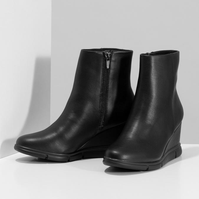 Dámska čierna členková obuv na kline bata-b-flex, čierna, 791-6630 - 16