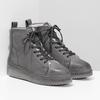 Členková dámska kožená zimná obuv bata, šedá, 596-2713 - 26