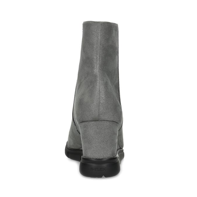 Dámska členková obuv na kline strieborná bata-b-flex, strieborná, 799-2642 - 15