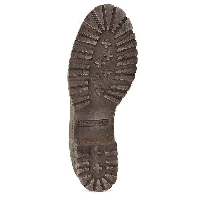Hnedé kožené poločižmy s kožúškom weinbrenner, béžová, 696-7336 - 18
