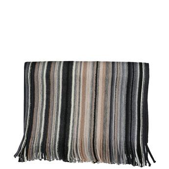 Pánsky béžový šál s prúžkami bata, viacfarebné, 909-8713 - 13